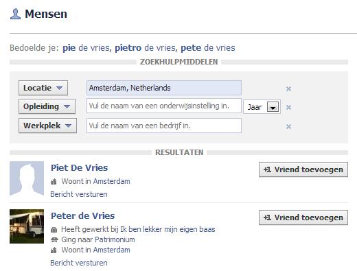 facebook zoeken stap 6